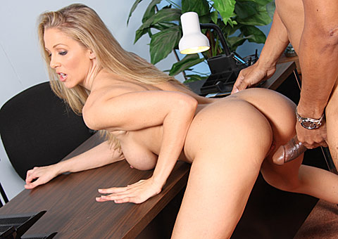 Busty blonde MILF Julia Ann gets banged by a giant black cock from Blacks on Cougars