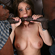MILF gets double banged and anal creampied by hung blacks from Blacks on Cougars