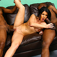 hot mature brunette gets double teamed by hung black studs from Blacks on Cougars