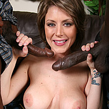Busty MILF Velicity Von gets double penetrated by black studs from Blacks on Cougars